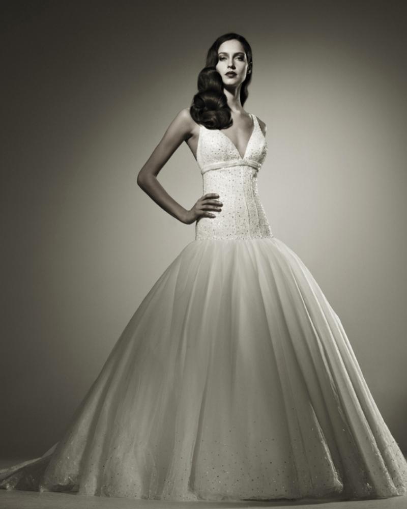 Свадебное платье  London с корсетом из натурального шелка